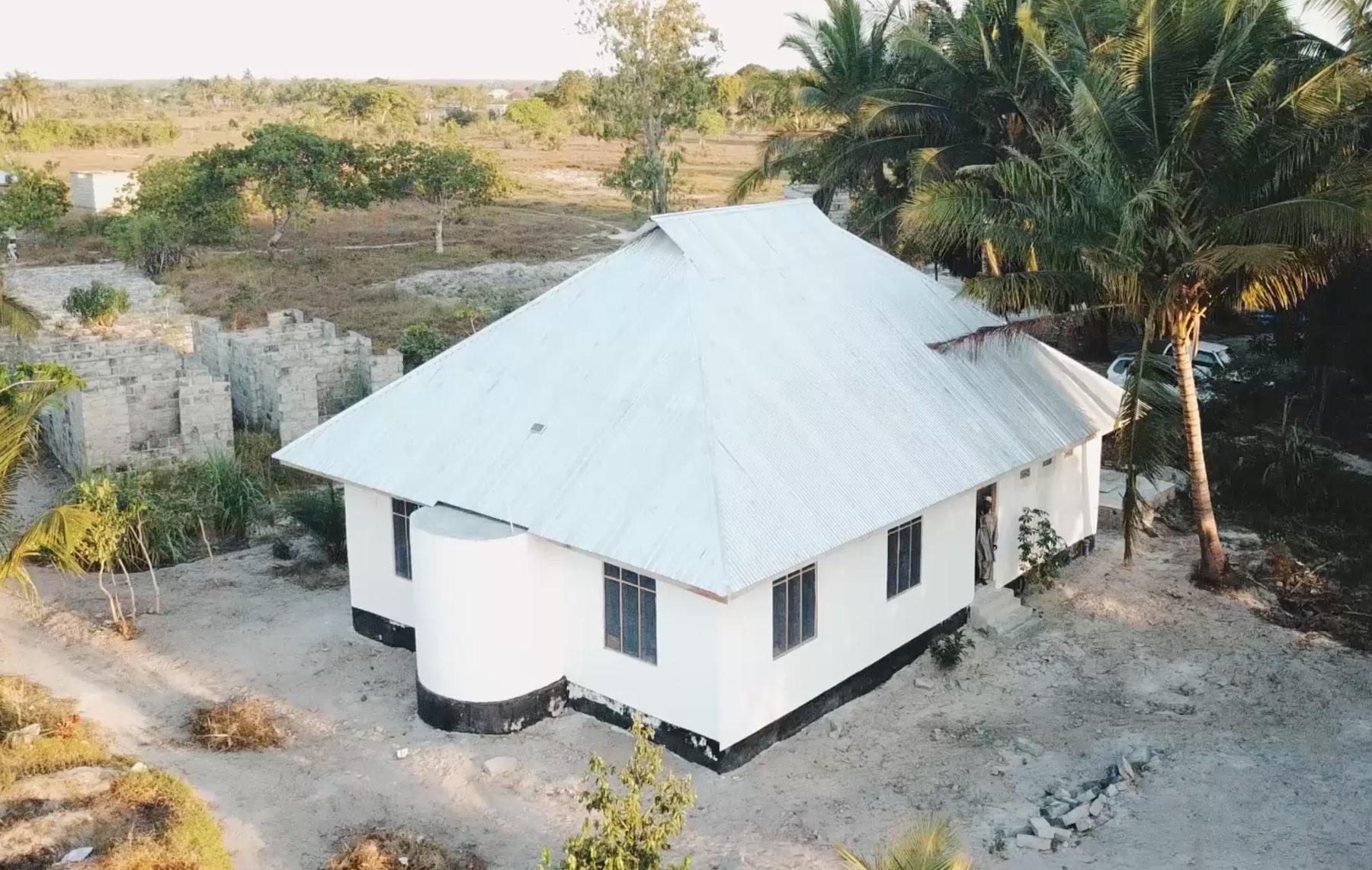 An under construction mosque in Tanzania